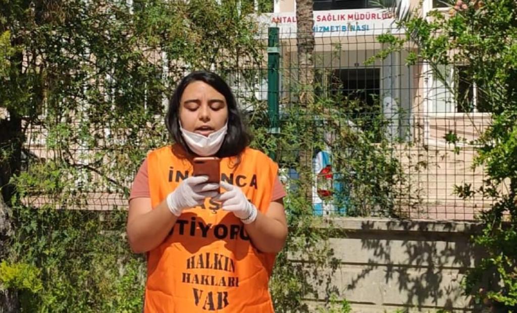 Antalya Halkevi üyesi Ebru İntibay gözaltına alındı
